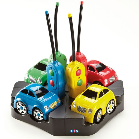 Rechargeable Remote Control Easi-Cars, set of 4 cars. Model: EY04198