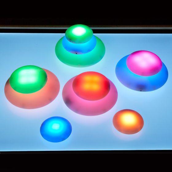 Illuminated Sensory Glow Pebbles 12pcs. Product Code: EY07307