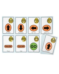 A5 Bee-Bot Sequence Cards, Giant size, pack of 49. Model: ITSCARD