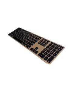 Matias Wireless Aluminum Keyboard - Gold. FK418BTG