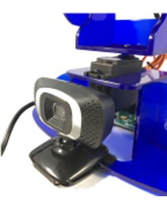 Camera and mounting brackets for Ohbot