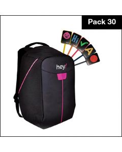 hey!U – Pack of 30 units with free Backpack and one year free hey!U software subscription