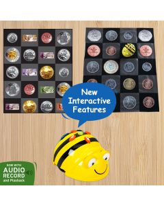 Bee Bot Currency Bundle: Bee Bot  Floor Robot , Canadian and UK money mats