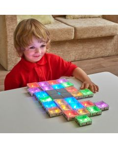 Sensory play Connecting Glow Tiles.  708-EY10018