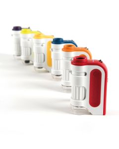 Set of 6 Brightly Coloured Handheld Microscopes for Kids. 708-SC01155