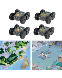 Class Bundle 4 Rugged Robot with Treasure Island Mat & Coral Reef Mat