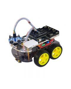 KUONGSHUN Robot 4WD, Functional 4WD Robot Car Chassis Kit for Uno R3 Arduino